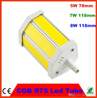 Corn COB 8W Non Dimmable R7s 5w 10w 15w 78mm 118mm 189mm 90-260V led bulbs tungsten tube tubes led lamp r7 lights Free shipping