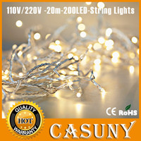 Christmas led christmas lights twinkle light - AC110V V IP44 FT M LED Warm White Red Yellow Blue Green Purple Pink MultiColor chain twinkle String Lights for Christmas party