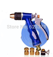 Cheap Copper High Pressure Car Washing Water Gun+10Meters Pipe Car Washer Kit free shipping