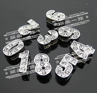 Wholesale mm Lovely Number Slide Charms DIY Accessories