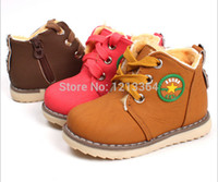 Wholesale Retail NEW children s baby shoes baby boys and girls thick cotton padded shoes winter warm shoes yards Children snow boots