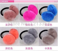 Wholesale color super cute winter warm plush earmuffs imitation rabbit fur earmuffs men and women support