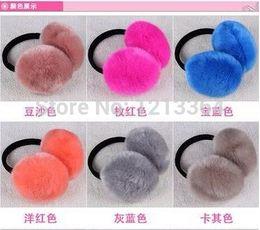 Wholesale color super cute winter warm plush earmuffs imitation rabbit fur earmuffs men and women support