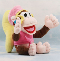 Wholesale 1X quot Dixie Kong Plush Super Mario Donkey Country Diddy Girlfriend Plush Toy DH04