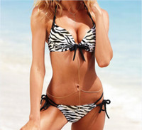 Cheap summer dress Newest Discount Swimsuit Bandeau Swim Leopard Bikinis Set Animal Print Swimwear Women