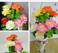 artificial water lilies - 35cm flower head Artificial Simulation water lily lotus flower home decoration Performing props