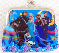Wholesale Girls Wallet Frozen Coin Purse Anna Elsa Olaf Gifts money bag For Holidays Christmas