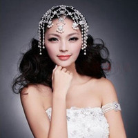 Cheap 2014 luxious new pearl bridal accessories wedding hair jewelry wholesale pearl bridal headdress crystal wedding jewelry