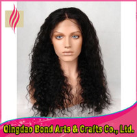 Wholesale New arrival virgin brazilian human hair fulll lace wigs water wave natural hairline front lace wigs with baby hair
