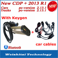 Cheap 2014 Promotion !! TCS CDP PRO PLUS with a full set 8 car cables TCS Scanner with bluetooth and Keygen for auto diagnostic tool