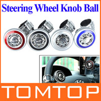 Cheap Car Steering Wheel Knob Ball Hand Control Power Handle Grip Spinner Silver Blue Red Black drop shipping wholesale