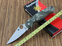 Wholesale Spyderco C81 ParaMilitary Folding Pocket Knife CPM S30V Blade Digital Camo G Handle Military Knives