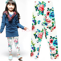 floral print pants - Fashion Floral Print Soft Girl Leggings Girl s Flower Pants Leggings Trousers For Kids Wear