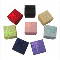 Wholesale 200pcs Ring Box Ring Case Jewelry Rings Paper Jewlery Boxes Gift Packaging