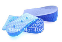 adjustable height insoles - New Layers Soft Lift Silicone Insole Adjustable Fashion Honeycomb Height Increase Taller Shoe Pads pair