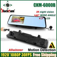 "Cheap car dvr New Car Camera Rear View Camera Mirror DVR 4.3"" LCD Android 4.0 + 1080P 720P H.264 With GPS Navigation + WIFI + IR night Vision"