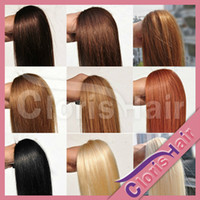 Wholesale 100 Strand Easy Loop Silicone Micro Ring Beads Human Hair Extensions Brazilian Remy Hair Natural Straight g s quot quot Colors Available