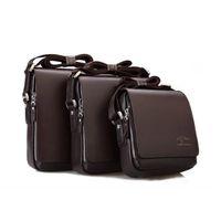 Wholesale Men Fashion Leather Briefcase Cross Body Messenger Bags Multifunctional laptop shoulder bags