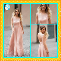 2016 Blush Pink Evening Dresses Cheap New Sleeveless Crew Ne...