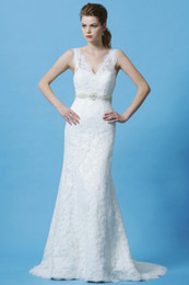 Wholesale 2012 Best Style Custom Made Beautiful Sexy Lace Bride Wedding Dress V Neckline Bridal Dresses