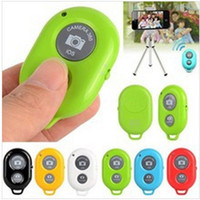 Wholesale Wireless Bluetooth Camera Remote Control Self timer Shutter For Samsung iphone handheld monopod bluetooth remote shutter