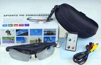 Less than 2'' Less than 10x 720P (HD) free shipping Digital Video Recorder Real HD 720P Sport outdoor 5.0 M Pixels Sunglasses DVR Eyewear Hidden mini Camera +8GB Card