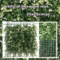 Wholesale new artificial plant outdoor privacy hedges boxwood mat hedge cm fake leaves artificial hedge G0602B016A