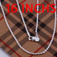 Wholesale New arrival Top Quality Sterling Silver MM Twist ROPE chain Necklace inch inch inch inch inch