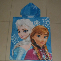 Wholesale 60 cm Cheap Best Hoodies Baby FROZEN Towel Frozen Elsa Anna OLAF Soft towels Baby Shower Towels child Hooded beach towels bucket garments
