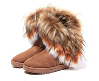 Wholesale 2014 New Fashion Women lady australia high fur boots snow boots Snow warm winter Boots Shoes motorcycle