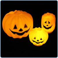 halloween pumpkin light - LED Pumpkin Light Halloween Night Light Plastic Pumpkin Colors Changing LED Pumpkin Light Holiday Light Lamp Novelty Light Halloween Party
