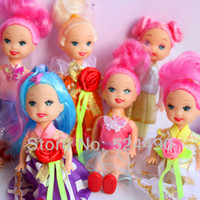 Cheap Wholesale-10 Items Kelly and Friends Family Doll Pretty Gown Cloth Dress Shoes Free Shipping