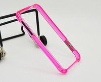 Wholesale More Thin transparent Bumper Frame PC Case Cover SkinTransparent For iphone g case For apple phones protector iphone case