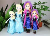 Wholesale Frozen Doll Frozen Plush Toys New Elsa Doll Toys Soft Princess Anna Cloth Brinquedos Kids Dolls for Girls cm