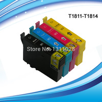 Wholesale T1801 Full Set T1801 T1802 T1803 T1804 compatible ink cartridge for T1801 T1804 for XP412 WH etc