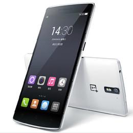 3g usb libre en Línea-OnePlus Uno 1+ 5,5 & amp ; # 039 ; & amp; # 039 ; Snapdragon 801 Quad Core FDD LTE teléfonos celulares 3G + 64G FHD 1920 * 1080P pantalla 13.0MP NFC GPS Bluetooth de DHL EL ccsme