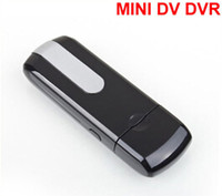 Cheap Free Shipping DVR Mini U8 Hidden HD Portable Spy Camera Recorder U Disk Black Color USB Camera USB disk camera USB Flash video recorder