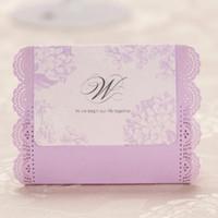 Cheap Romantic Hollow Flower Hem Purple Candy Boxes Rectangular Paper Printed Wedding Gift boxes,Wedding favor boxes Holders 50pcs lot CB001