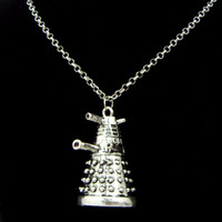 ancient robots - Doctor Who Dalek Robot Pendant Nec Pendant Necklace Tardis Dr Mysterious Ancient Silver With Chain Jewelry Necklace Pendant