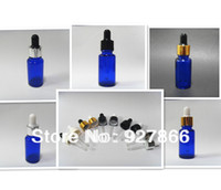 Wholesale 360pcs Pack ml Oz Cobalt Blue glass Eye dropper bottles Vails for Essential oil cosmetics container U choose cap color