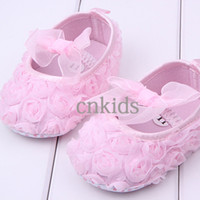 Wholesale Newest Sapatinho Baby Shoes Fall And Winter Cotton Flower Solf Sole Kids Lace Shoes Infant First Walker For Toddle KS40819