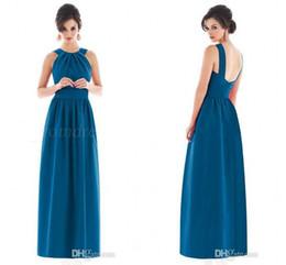 Wholesale Modest And Demure O neck Off The Shoudler A line Floor Length Formal Dresses Vestidos Para Festa De Casamento vestidos Bridesmaid Dress