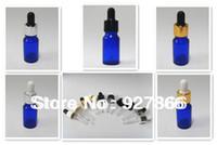 Wholesale 540pcs Pack ml Oz Cobalt Blue glass Eye dropper bottles Vails for Essential oil cosmetics container U choose cap color