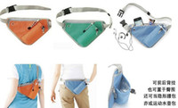 canvas water bag - New Fashion Sport Headphone cord hole Water Storage Fanny Pack Waist bag Backpack for men women