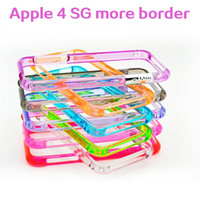Wholesale New for iphone4S candy color plastic contracted mobile phone frame