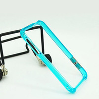 Wholesale New for iphone4S candy color plastic contracted mobile phone frame blue