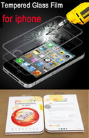 Wholesale Gorilla Tempered Glass Screen Film Shatter Scratch Proof PROTECTOR Screen Guard FOR IPHONE S G S with Retail Box