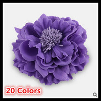 Wholesale Handmade Peony Corsage Pins Colors Bohemia Style Parent Children Hair Clips Bridal Accessories Big Flower Brooches