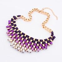 Cheap 2014 High Quality Women Luxury Costume Fashion Chunky Necklaces & Pendants Chokers Punk Gorgeous Statement Jewelry