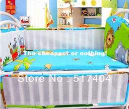 2013 NEW Spring ventilate summer cool lion baby cot bumper,cool baby bumper , 4pc bumper with the filler ,EMS Free Shipping